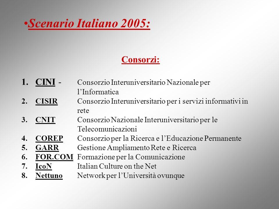 Scenario Italiano 2005: Consorzi: