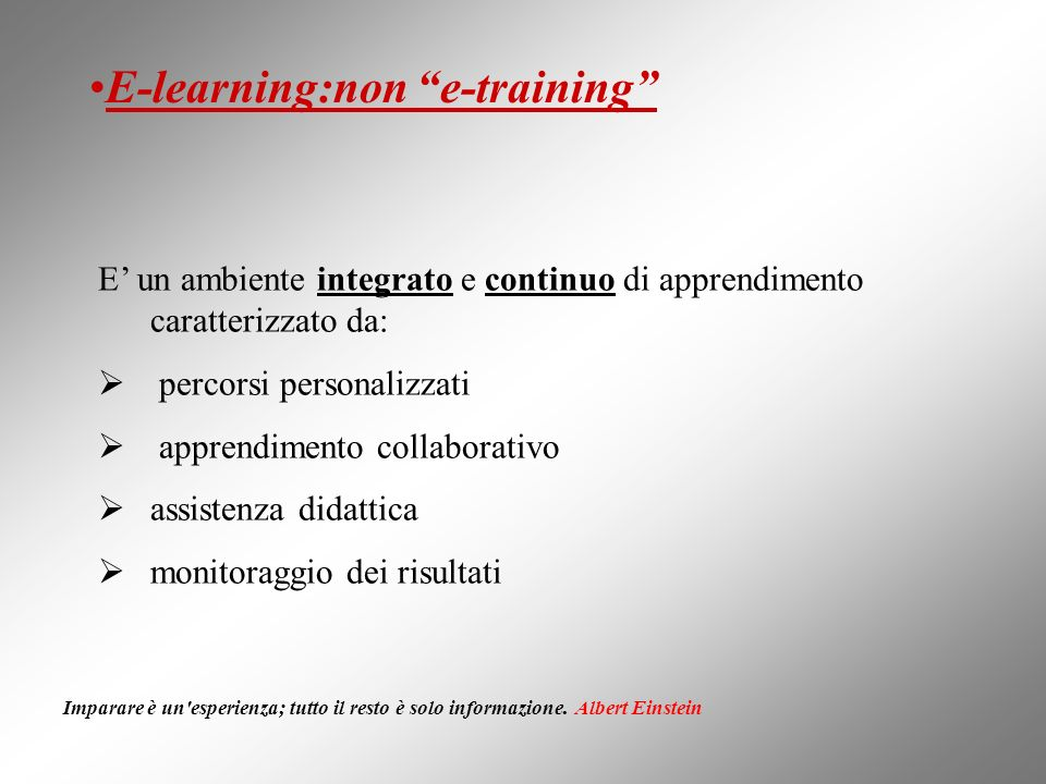 E-learning:non e-training