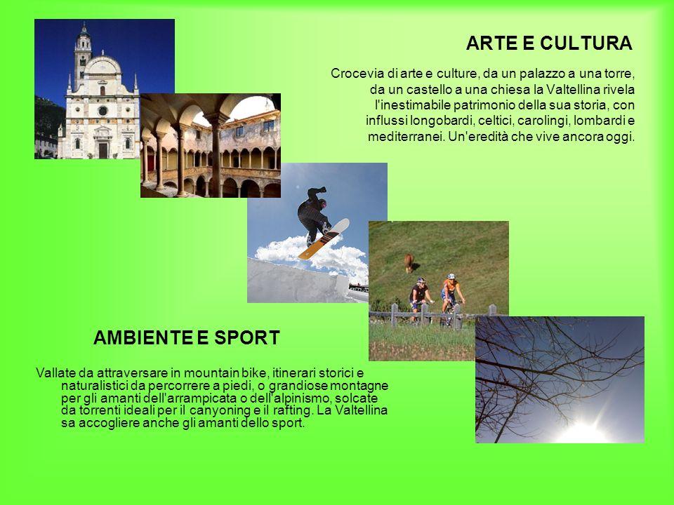 ARTE E CULTURA AMBIENTE E SPORT