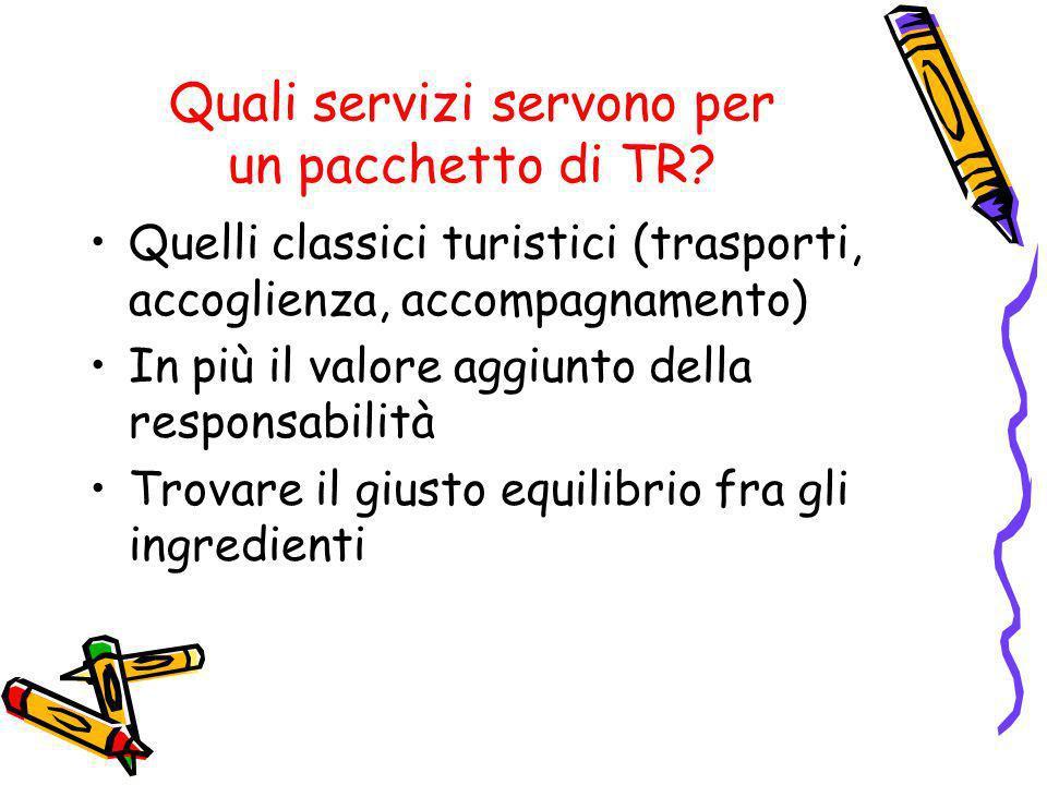 Quali servizi servono per un pacchetto di TR