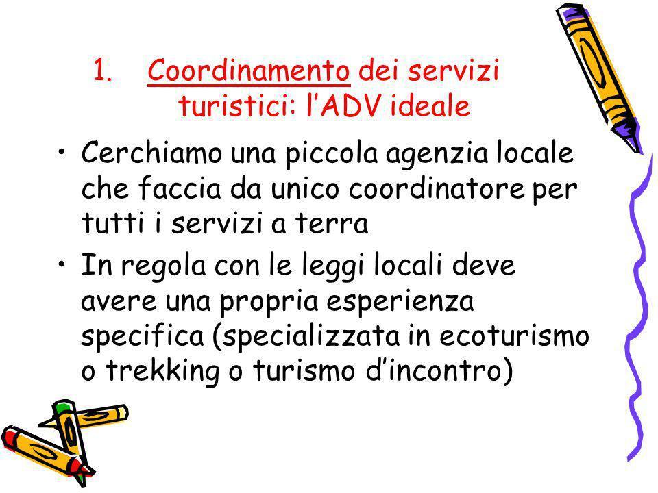 Coordinamento dei servizi turistici: l'ADV ideale