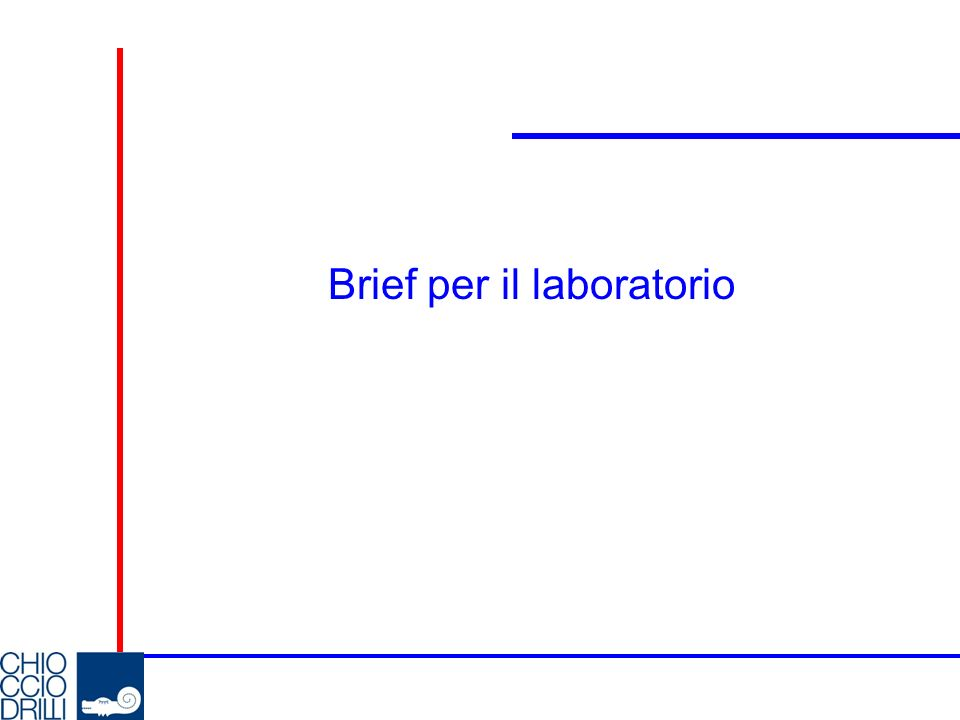 Brief per il laboratorio