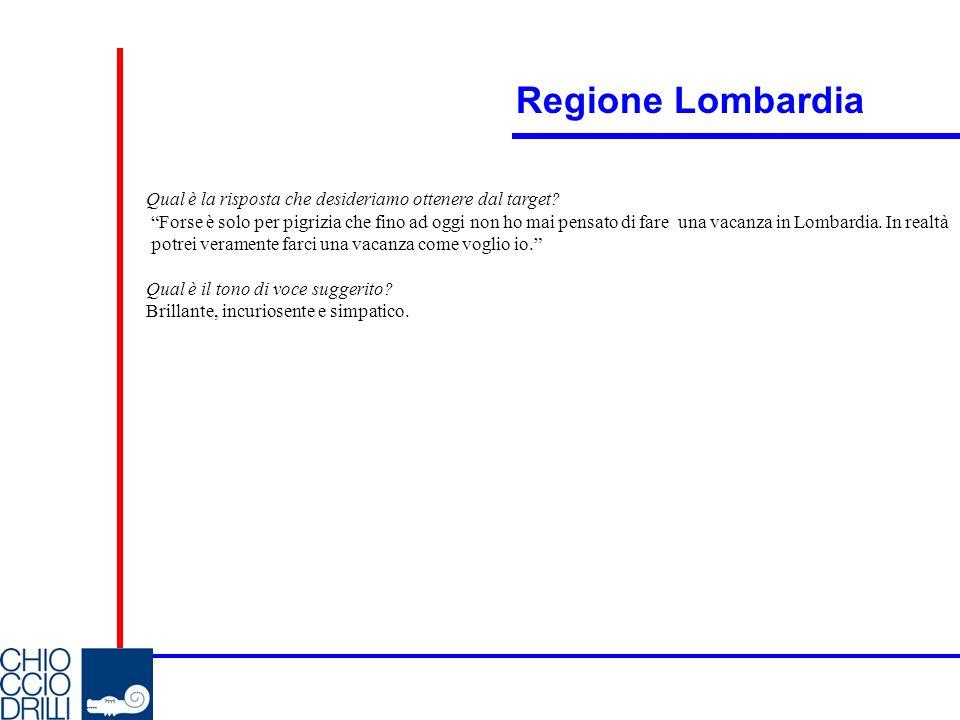 Regione Lombardia Qual è la risposta che desideriamo ottenere dal target