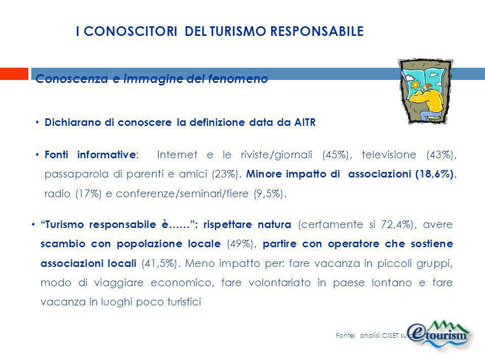 I CONOSCITORI DEL TURISMO RESPONSABILE