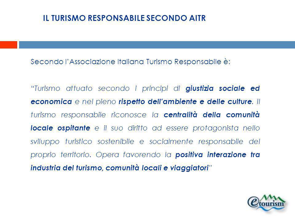 IL TURISMO RESPONSABILE SECONDO AITR