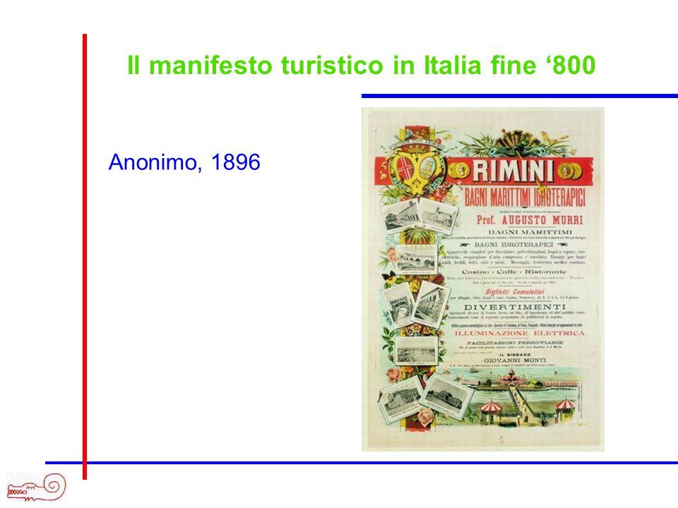 Il manifesto turistico in Italia fine '800