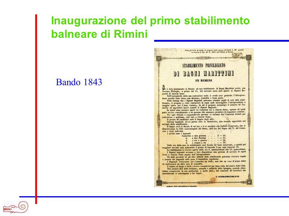 Inaugurazione del primo stabilimento balneare di Rimini