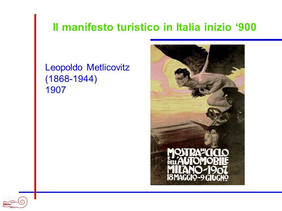 Il manifesto turistico in Italia inizio '900