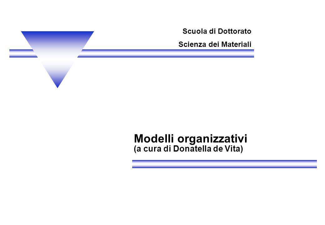 Modelli organizzativi (a cura di Donatella de Vita)