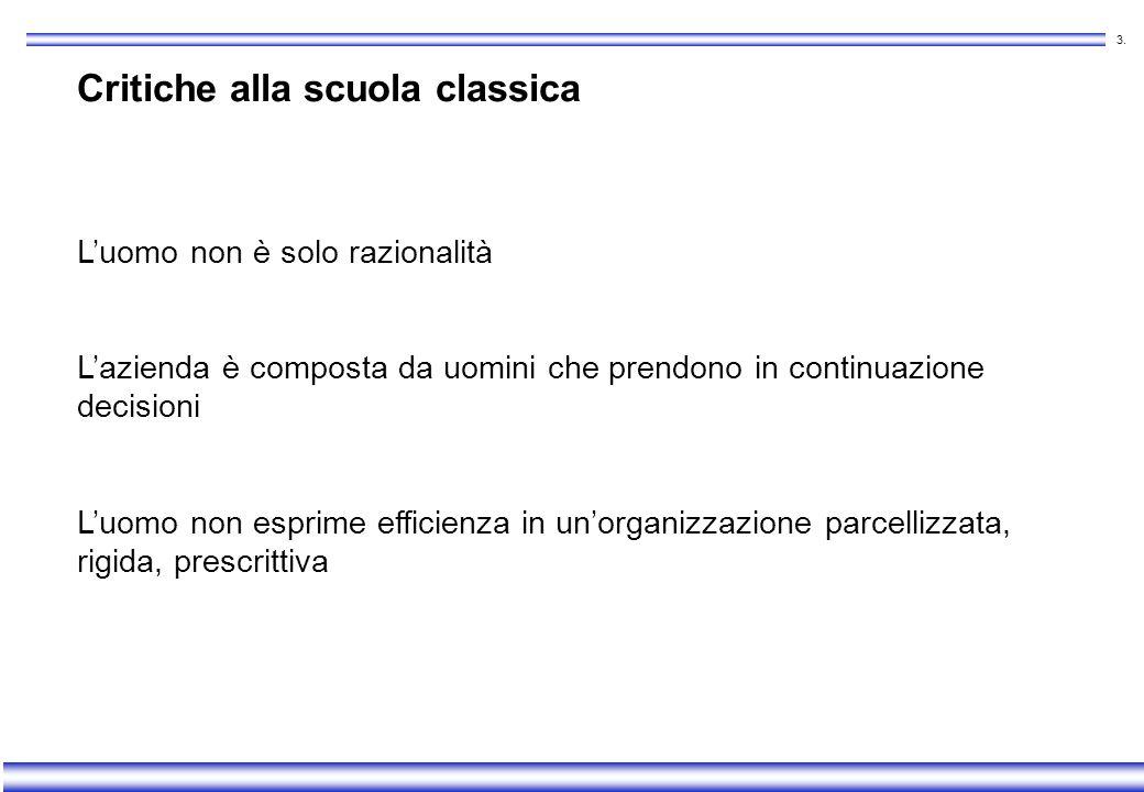 Critiche alla scuola classica