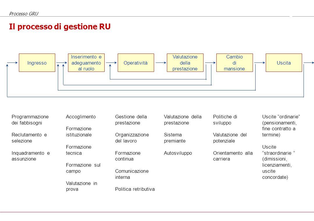Il processo di gestione RU