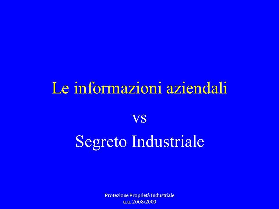 Le informazioni aziendali