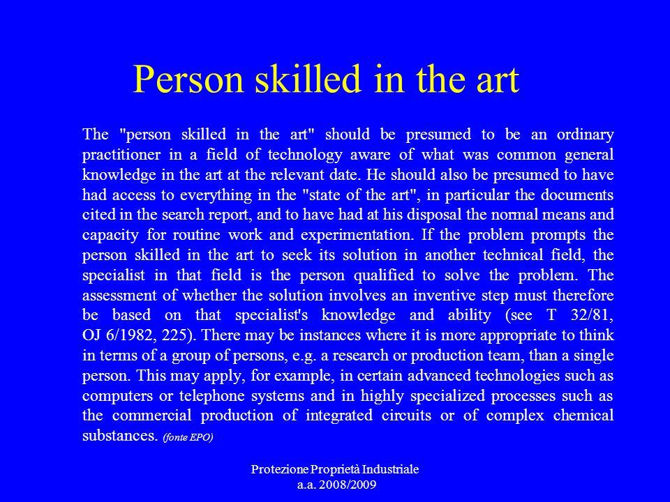 Person skilled in the art