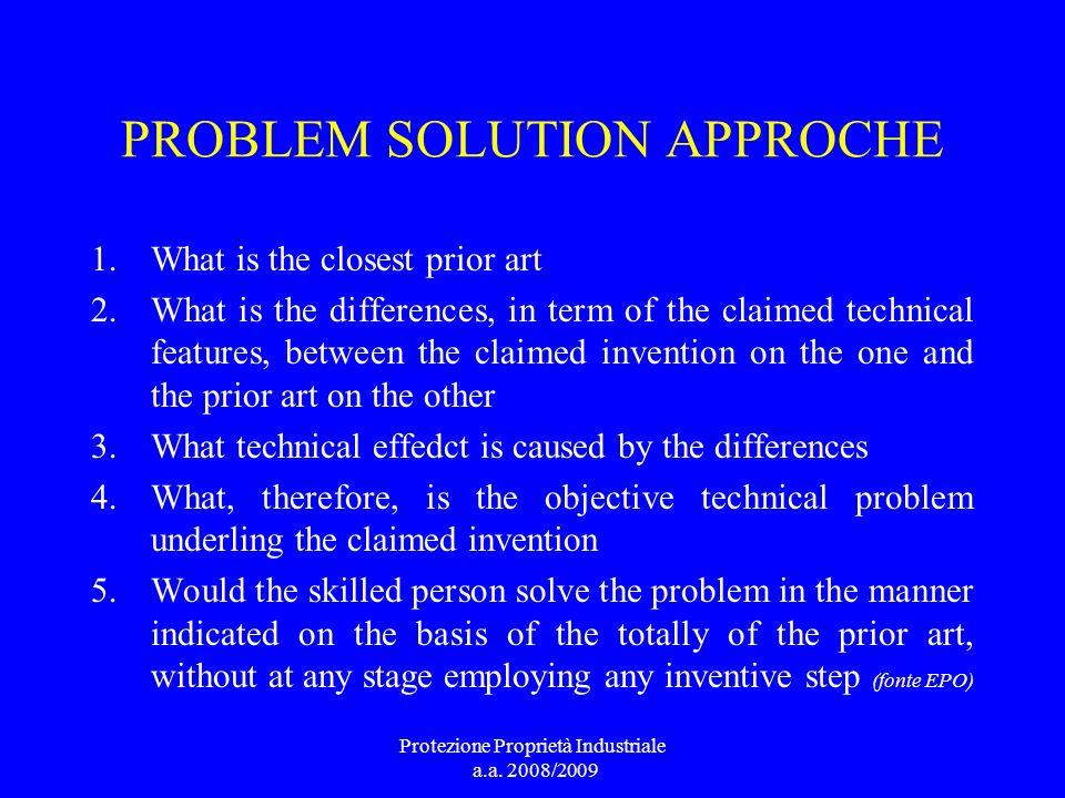 PROBLEM SOLUTION APPROCHE