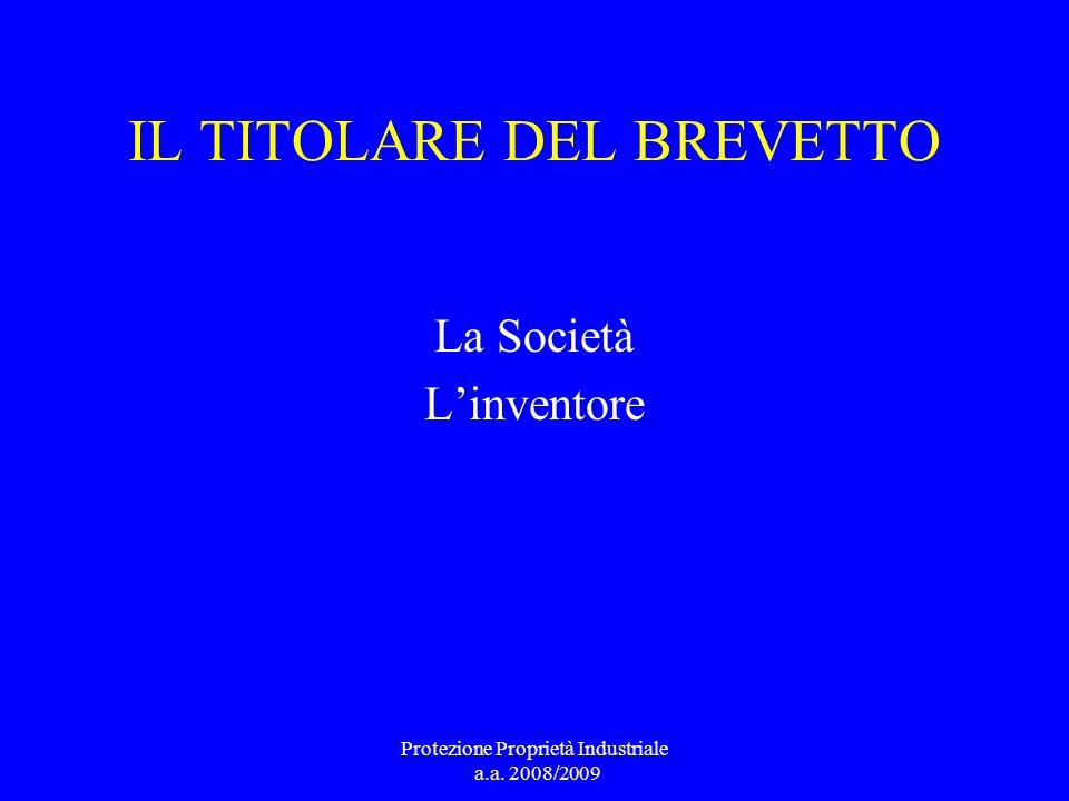 IL TITOLARE DEL BREVETTO