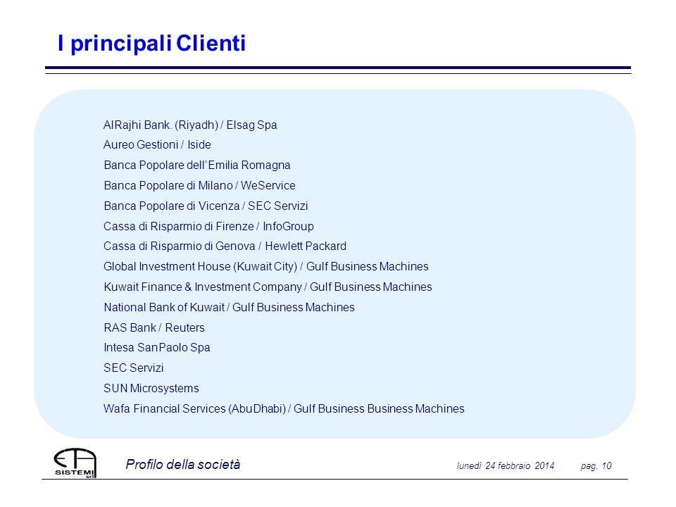 I principali Clienti AlRajhi Bank. (Riyadh) / Elsag Spa