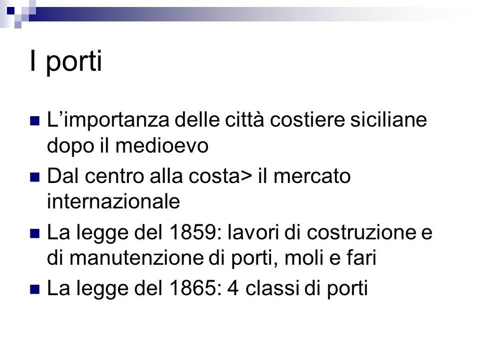 I porti L'importanza delle città costiere siciliane dopo il medioevo