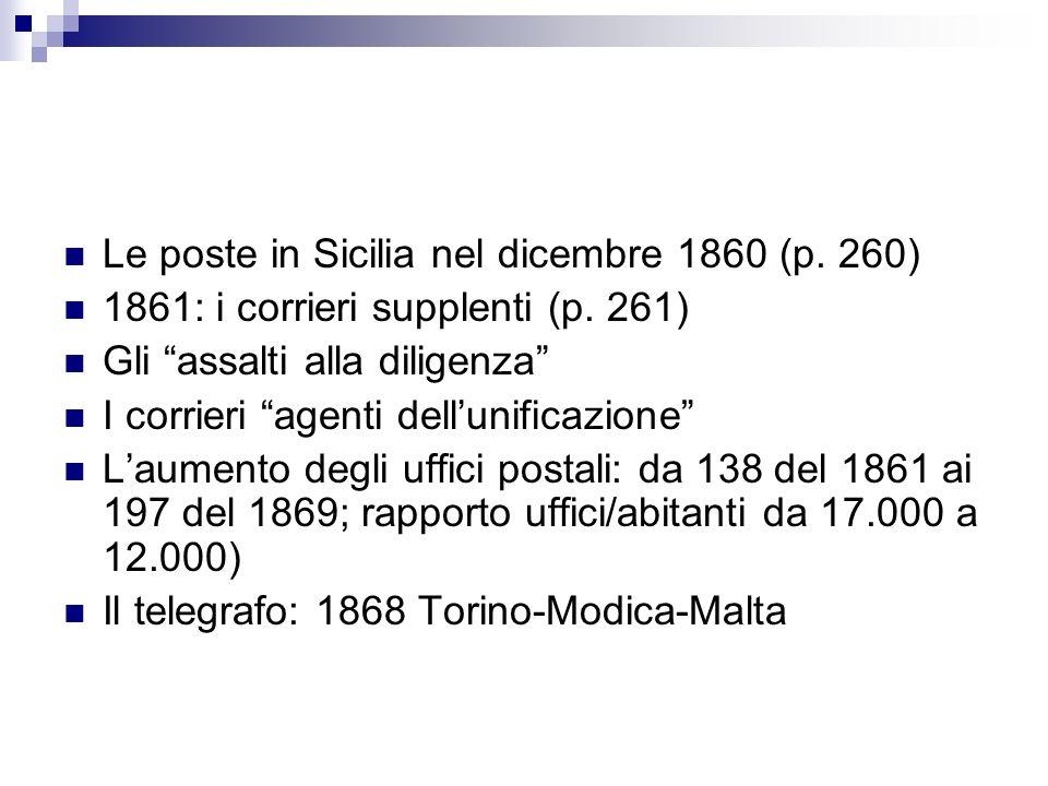Le poste in Sicilia nel dicembre 1860 (p. 260)