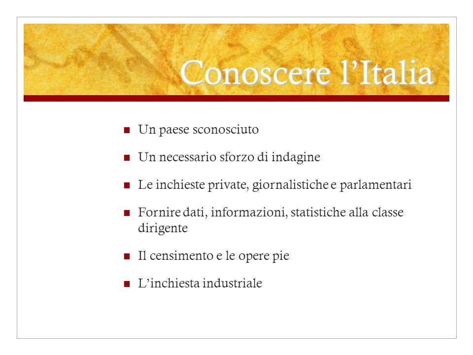 Conoscere l'Italia Un paese sconosciuto