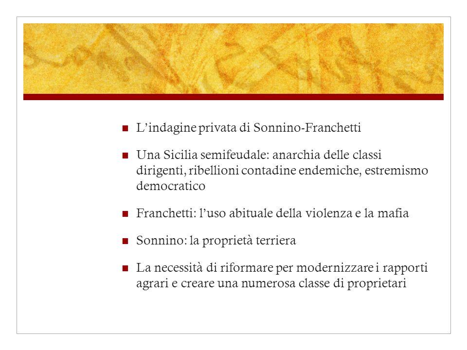 L'indagine privata di Sonnino-Franchetti