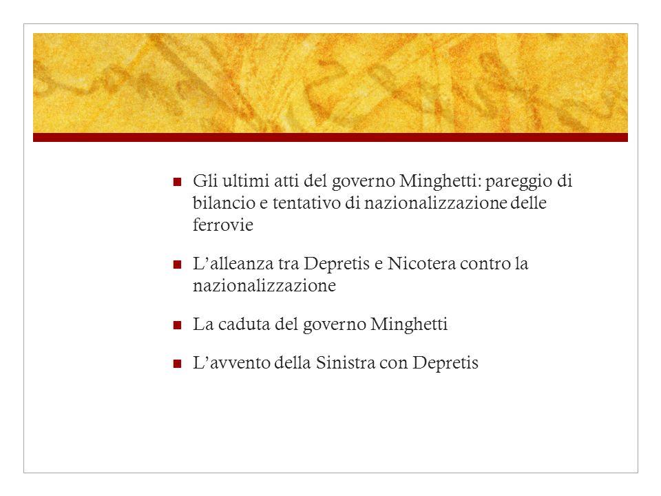 Gli ultimi atti del governo Minghetti: pareggio di bilancio e tentativo di nazionalizzazione delle ferrovie