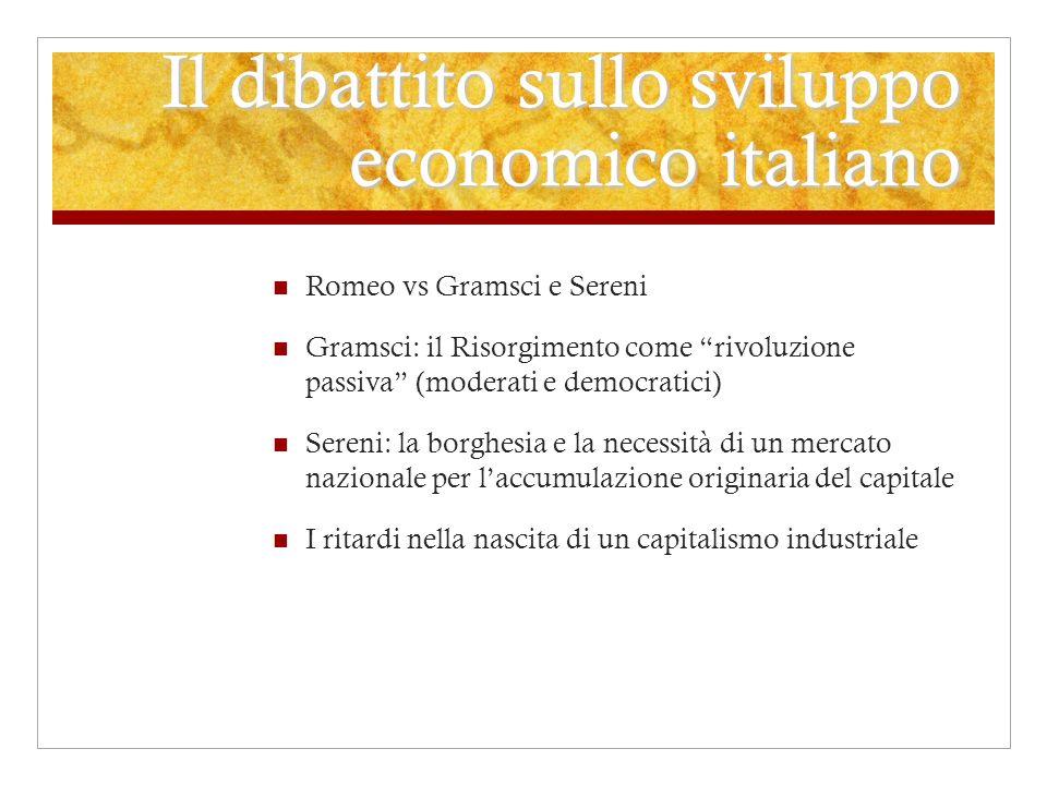 Il dibattito sullo sviluppo economico italiano
