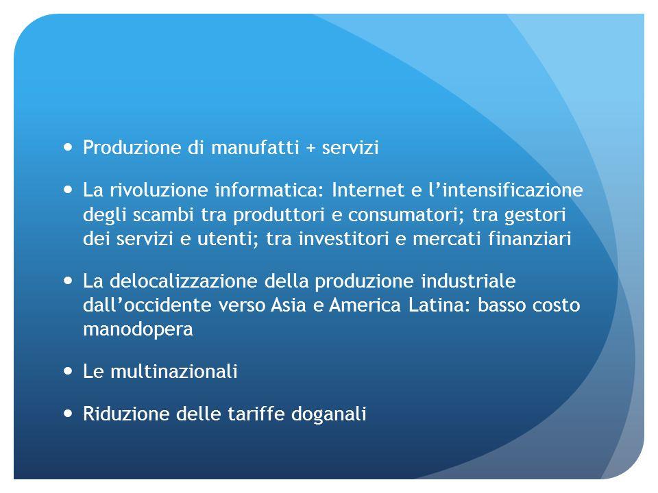 Produzione di manufatti + servizi