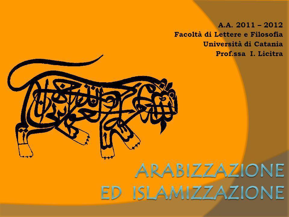Arabizzazione ed islamizzazione