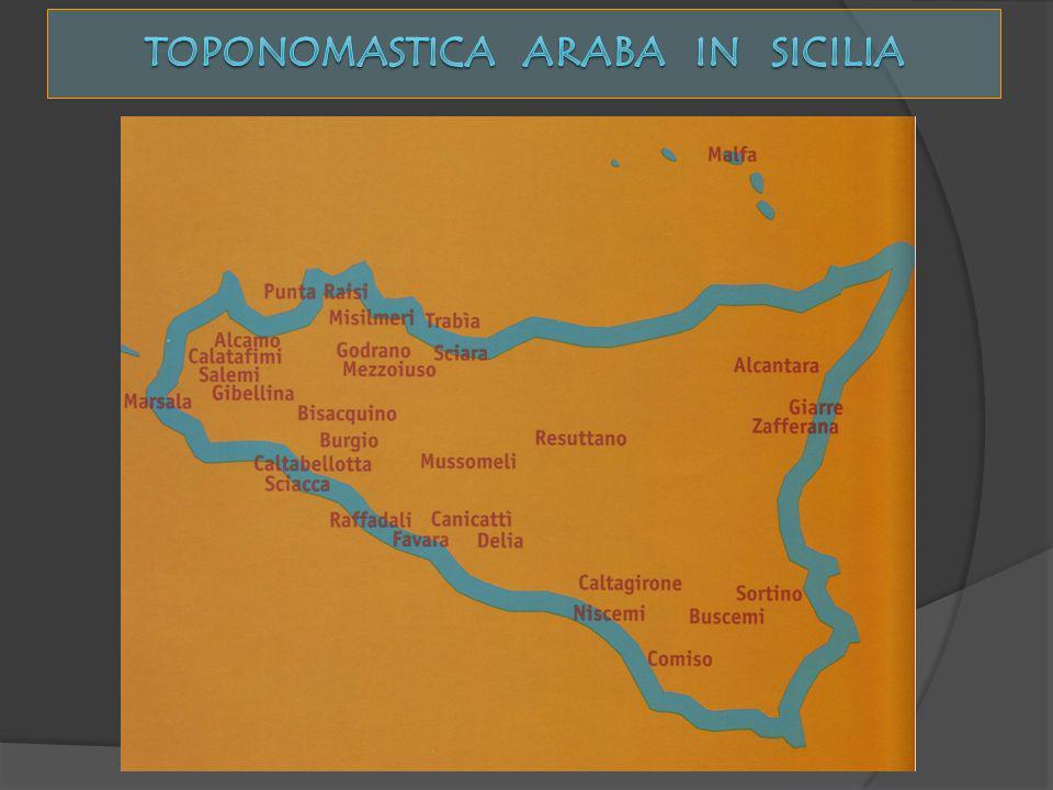 Toponomastica araba in sicilia