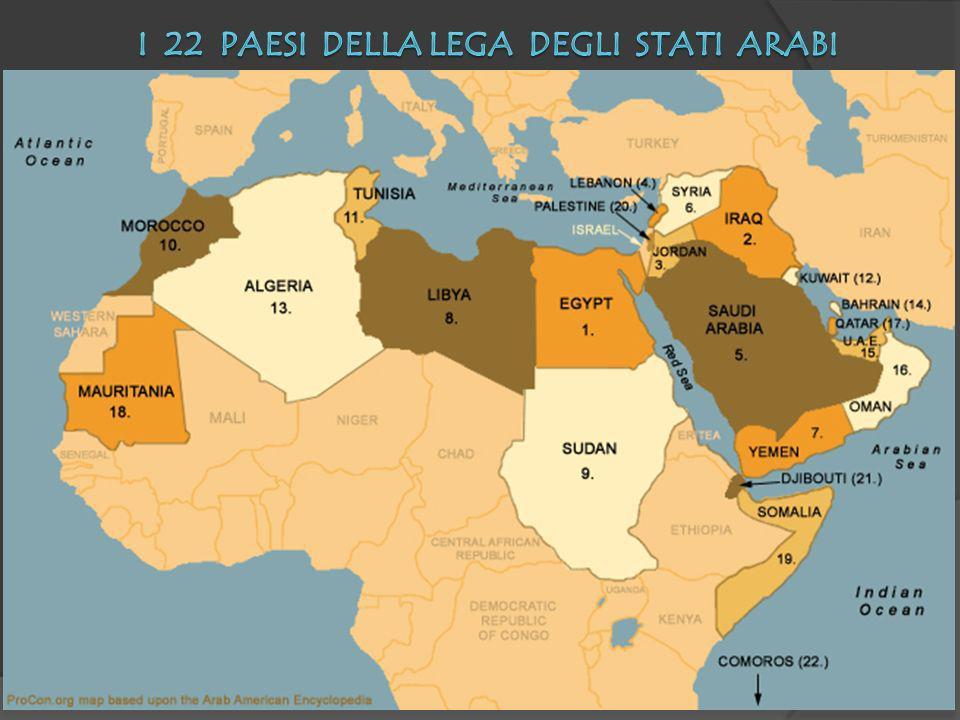I 22 Paesi della Lega degli stati Arabi
