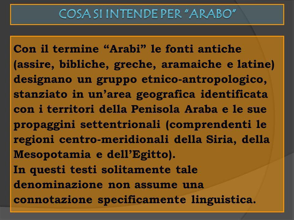 Cosa si intende per Arabo