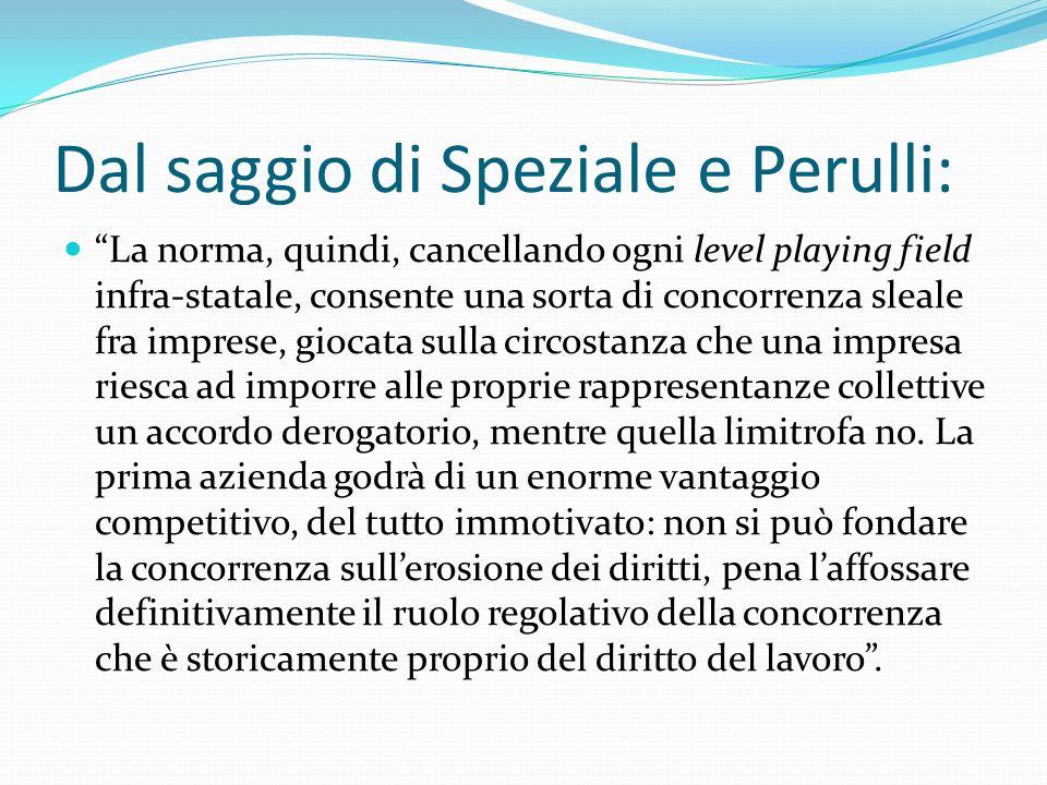 Dal saggio di Speziale e Perulli: