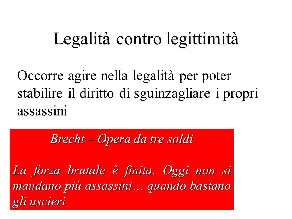 Legalità contro legittimità