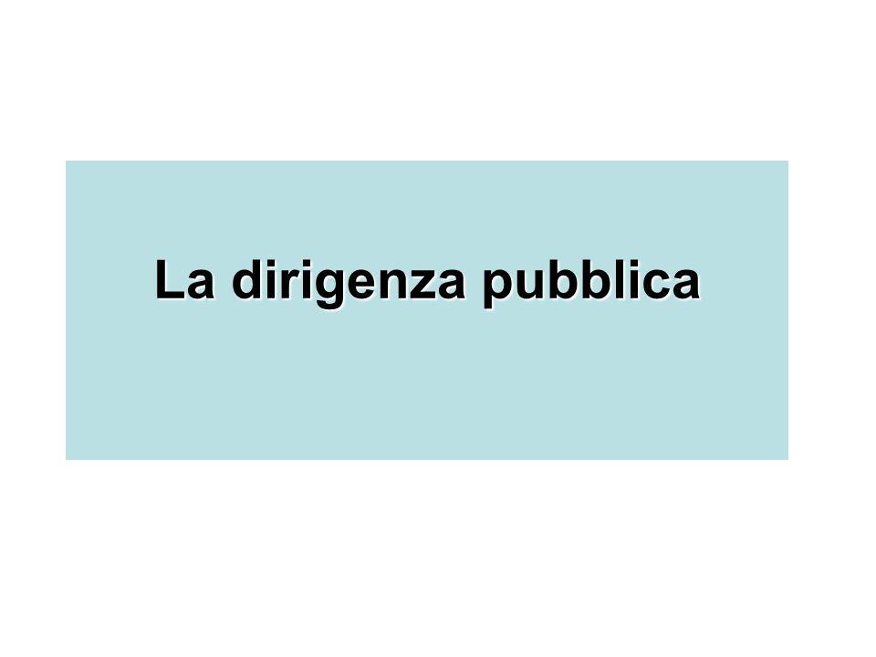 La dirigenza pubblica