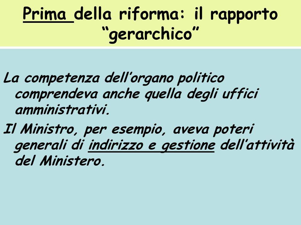 Prima della riforma: il rapporto gerarchico
