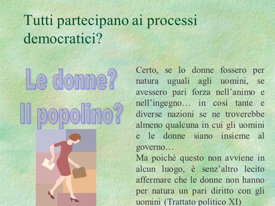 Tutti partecipano ai processi democratici