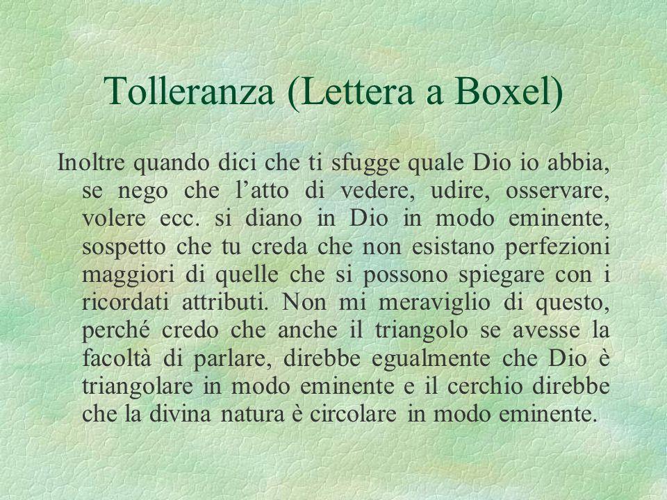 Tolleranza (Lettera a Boxel)
