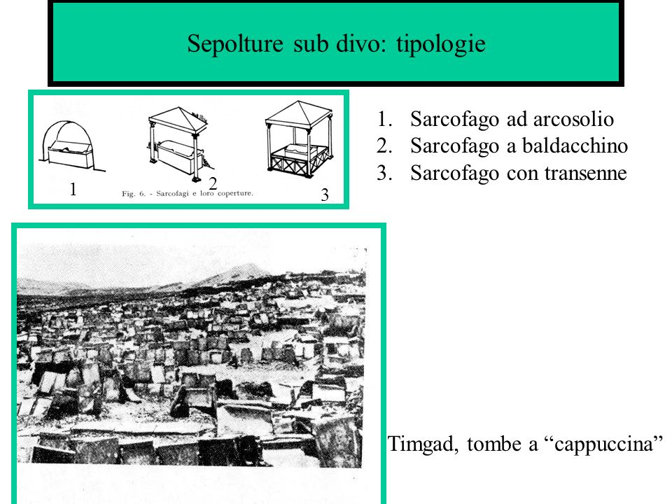 Sepolture sub divo: tipologie