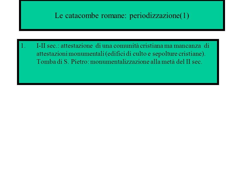 Le catacombe romane: periodizzazione(1)