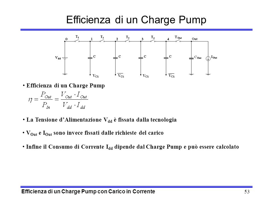 Efficienza di un Charge Pump