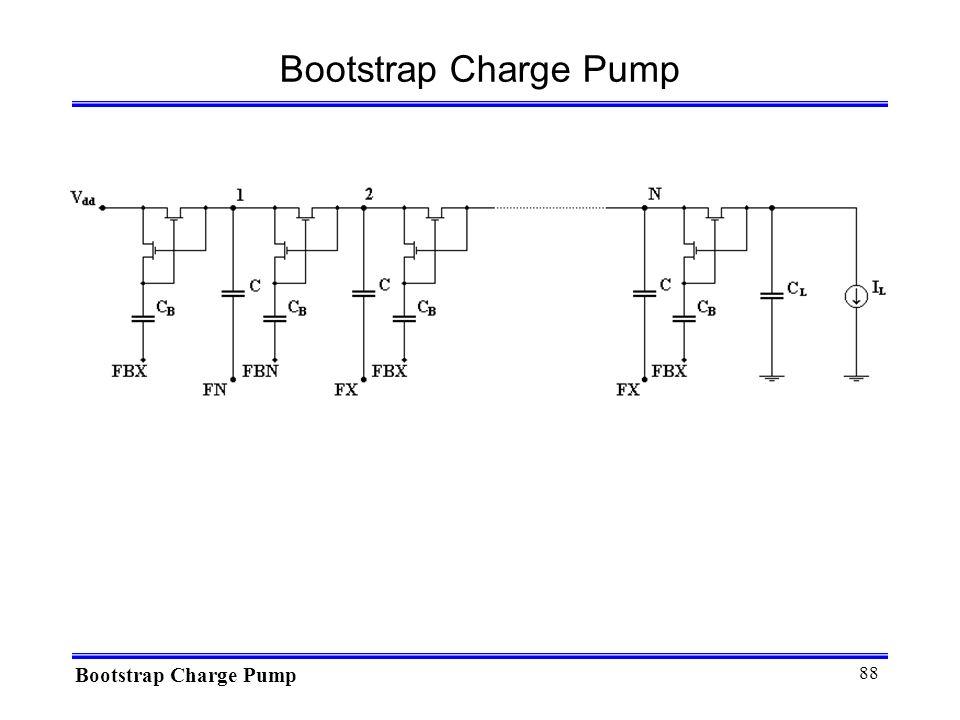 Bootstrap Charge Pump Bootstrap Charge Pump