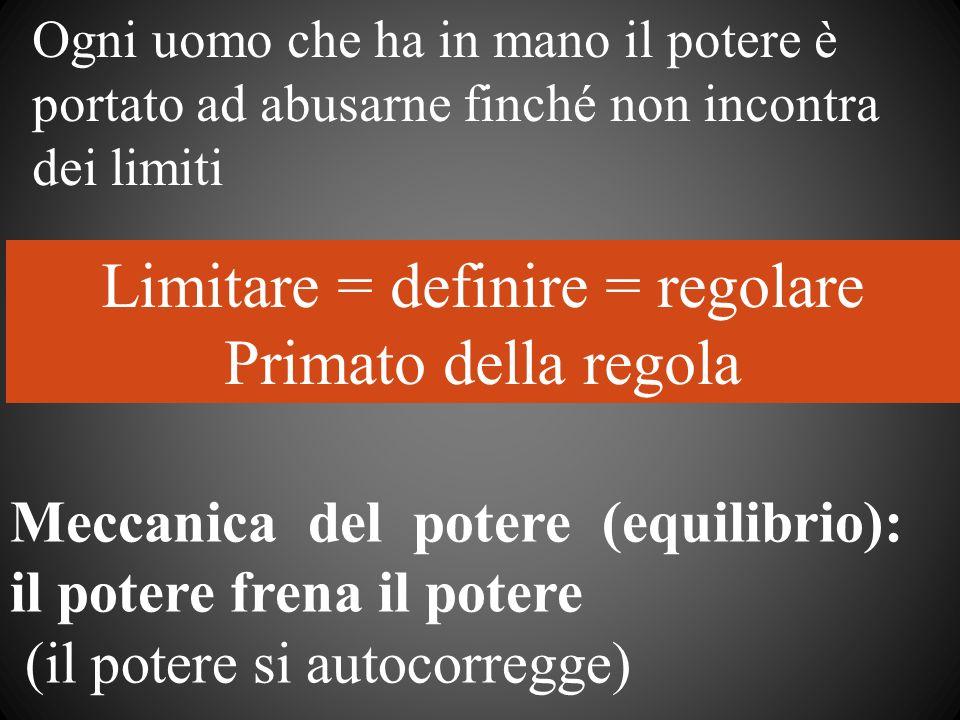 Limitare = definire = regolare