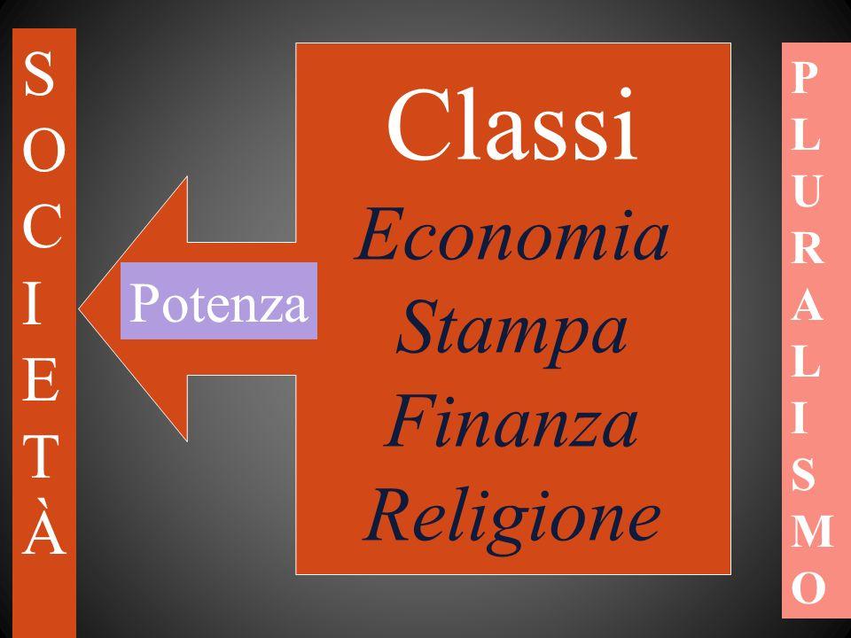 Classi Economia Stampa Finanza Religione S O C I E T À Potenza P L U R