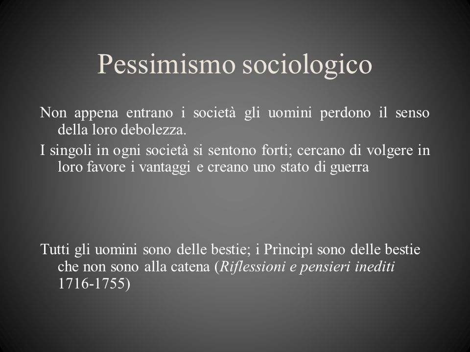 Pessimismo sociologico
