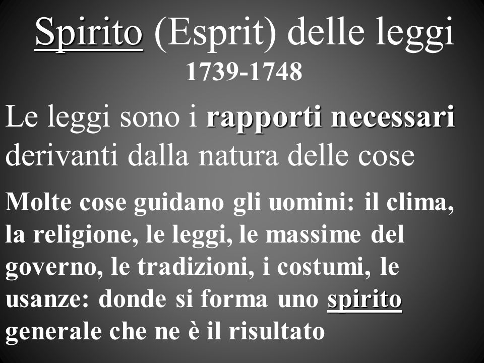 Spirito (Esprit) delle leggi