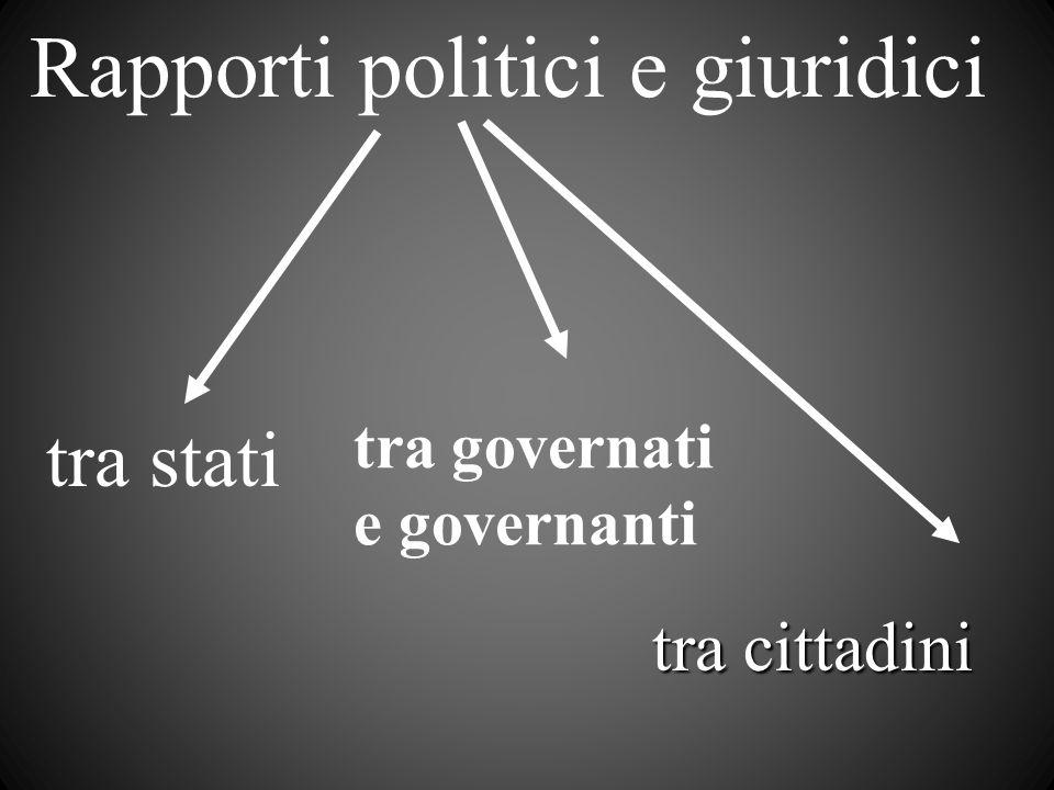 Rapporti politici e giuridici