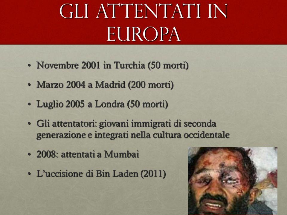 Gli attentati in Europa