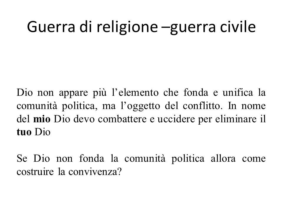Guerra di religione –guerra civile