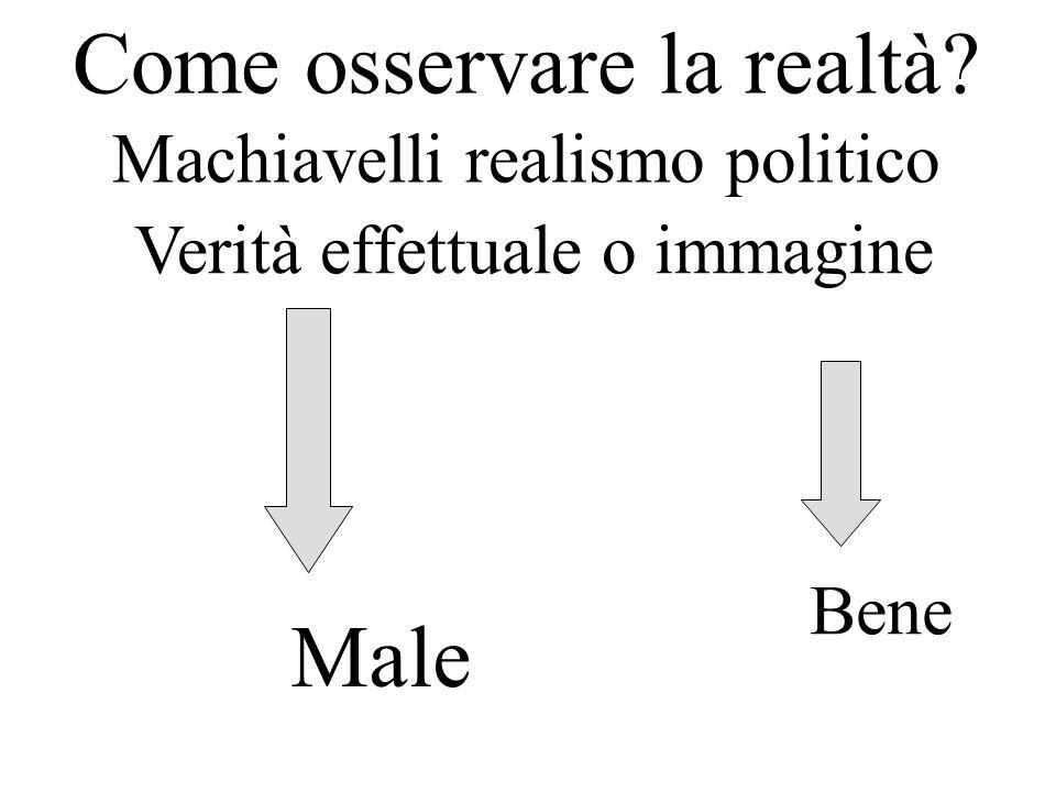 Come osservare la realtà