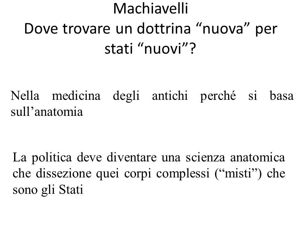 Machiavelli Dove trovare un dottrina nuova per stati nuovi
